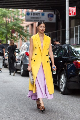 Caroline_Issa_NYFW_yellow_vest_coat